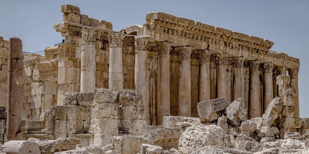Tempelruinen in Baalbek, Libanon